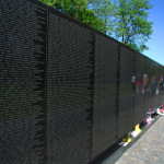 The Vietnam Veterans Memorial on the National Mall in Washington D.C.