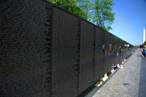 The Vietnam Veterans Memorial on the National Mall in Washington D.C.