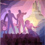 Aaron Douglas, Aspiration, 1936.  Oil on canvas, Fine Arts Museum of San Francisco
