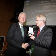 Bill Clinton at UCD in 2010, with the UCD President, Dr Hugh Brady
