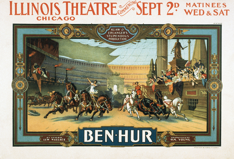 Theatrical poster for stage production of Ben Hur (1901)